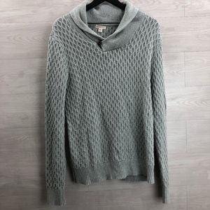 Merona Men's Cable Knit Cotton Sweater Grey Size M